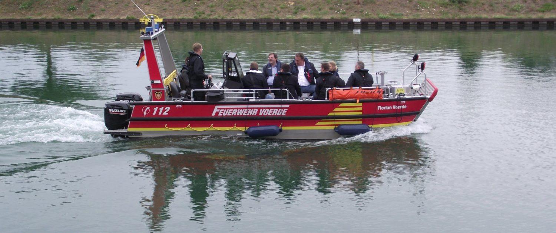 Neues Feuerwehrboot für Voerde