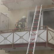 Brand in einem Gebäude