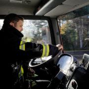 Impressionen aus dem Fahrsicherheitstrainig für LKW der EInheit Spellen im November 2016