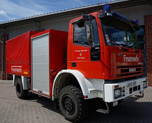 Feuerwehr Voerde Niederrhein - der Schlauchwagen