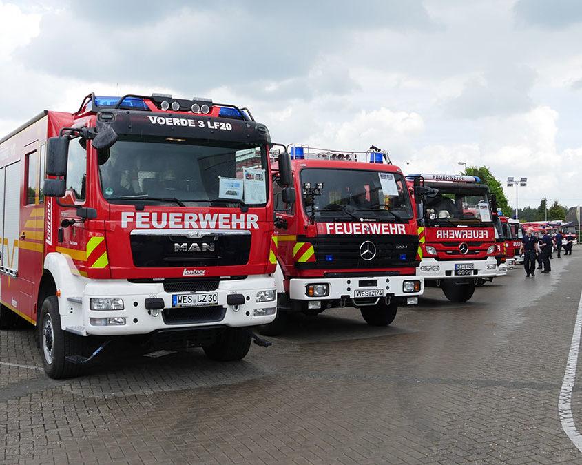 Ausstellung aller Fahrzeuge der Feuerwehr Voerde