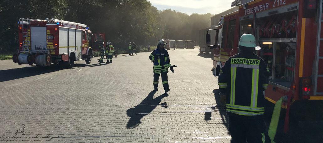 Jahresübung der Feuerwehr Voerde 2018