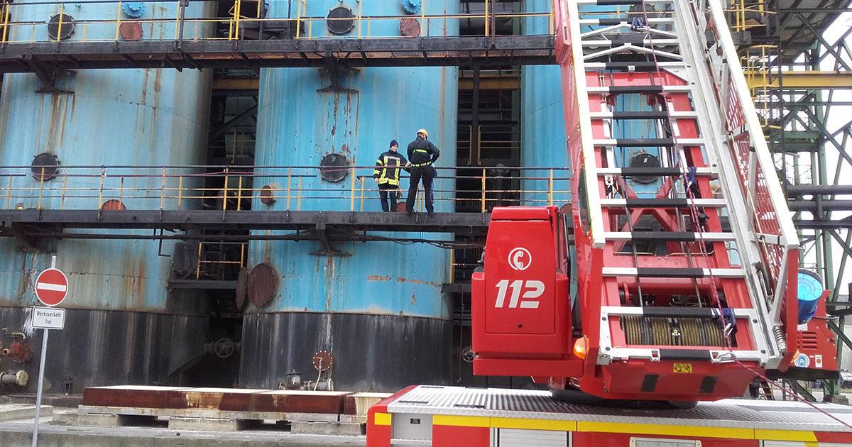 Lehrgang Absturzsicherung Feuerwehr Voerde