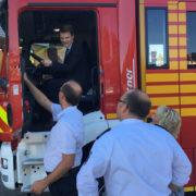Schlüsselübergabe des neuen LF20 durch den Bürgermeister Dirk Haarmann
