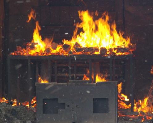 Richtiges Verhalten bei einem Zimmerbrand